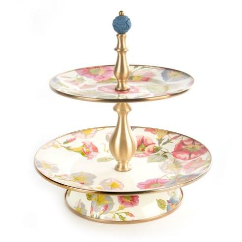 MacKenzie-Childs  Morning Glory Two Tier Sweet Stand $175.00
