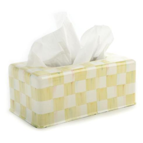 MacKenzie-Childs  Parchment Check Standard Tissue Box Holder $76.00