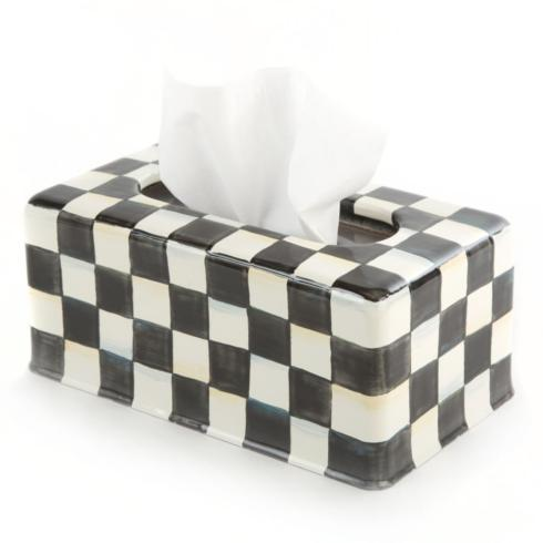 MacKenzie-Childs Courtly Check Bed & Bath Courtly Check Long Tissue Box Cover $78.00