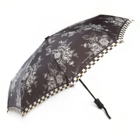 $55.00 Wild Rose Travel Umbrella - Black