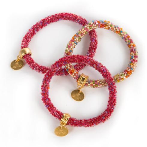 $98.00 Berry Little Beaded Bracelets - Set of 3