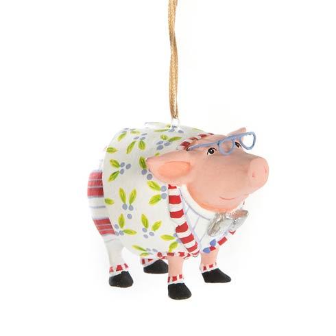 $22.00 Noah\'s Ark Norbert Pig Mini Ornament