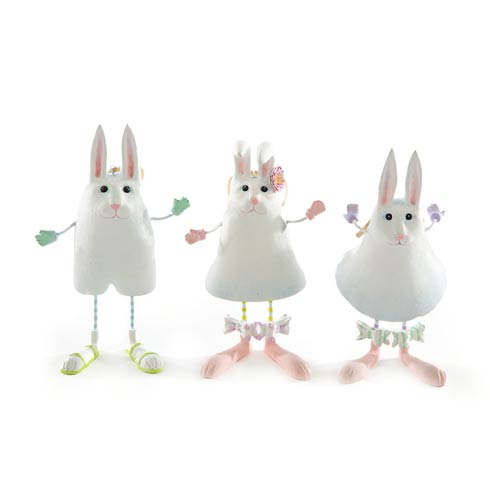 $88.00 Marshmallow Rabbit Ornaments - Set Of 3