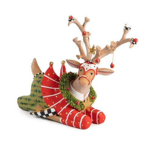 $98.00 Sitting Prancer Reindeer Figure