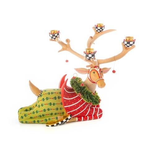 $378.00 Sitting Prancer Reindeer Candelabra