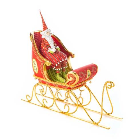 $308.00 Sitting Santa & Sleigh Figure Set