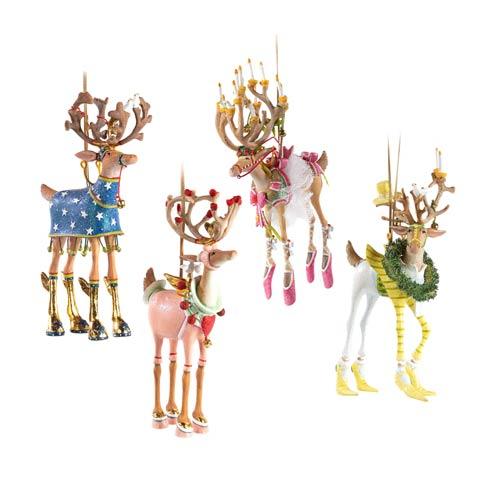 $175.00 Reindeer Ornament Set-B