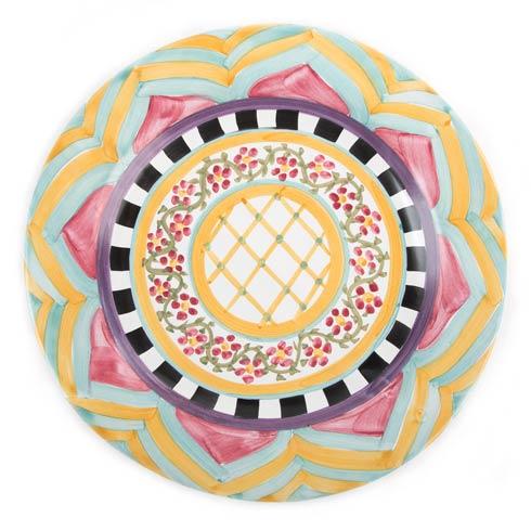 MacKenzie-Childs  Taylor Ceramics Taylor Flat Rim Dinner Plate - Hitchcock Field $88.00