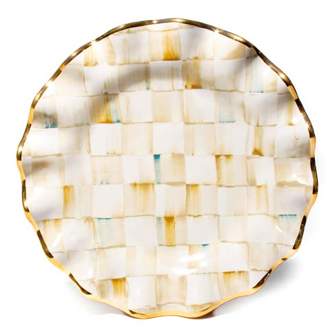 MacKenzie-Childs  Parchment Check Fluted Dinner Plate $155.00