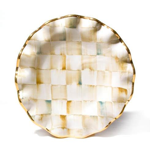 MacKenzie-Childs  Parchment Check Fluted Dessert Plate $140.00