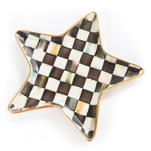 MacKenzie-Childs  Courtly Check Star Plate $110.00