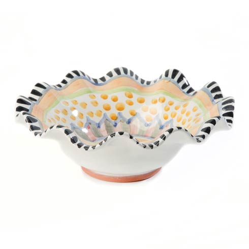 MacKenzie-Childs Taylor Tabletop Fluted Breakfast Bowl - Cabbage Rose $78.00