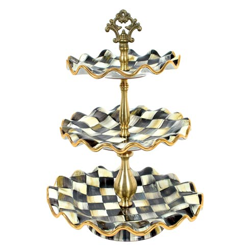 MacKenzie-Childs  Courtly Check Three Tier Sweet Stand $525.00