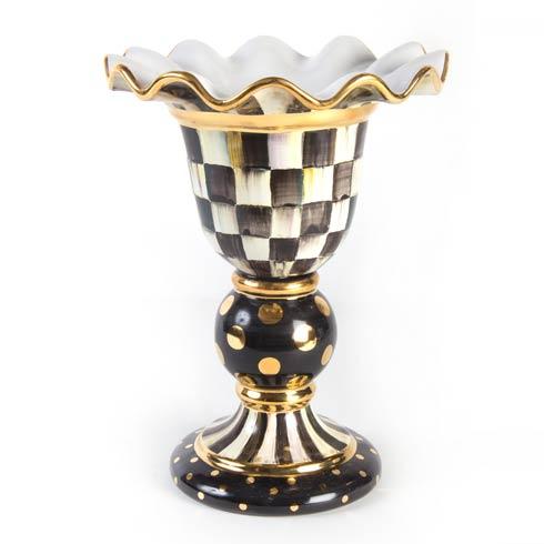 MacKenzie-Childs Courtly Check Tabletop Stately Vase $448.00