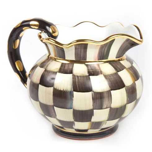 MacKenzie-Childs  Courtly Check Fluted Pitcher $295.00