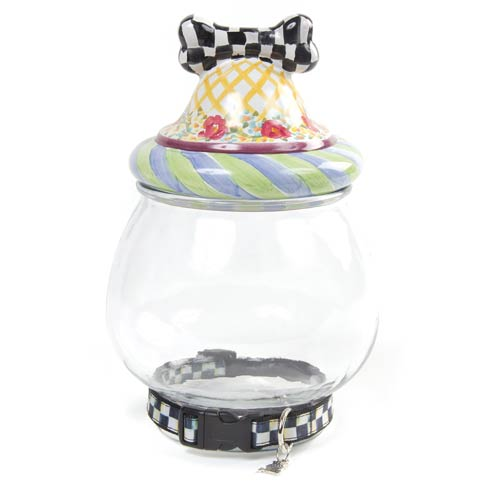 MacKenzie-Childs  Piccadilly Canine Cookie Jar $148.00