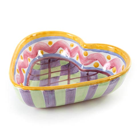 MacKenzie-Childs  Piccadilly Heart Bowl -  Large $88.00