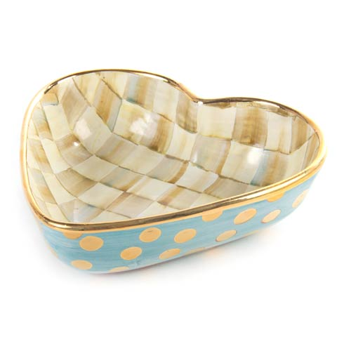 MacKenzie-Childs  Parchment Check Heart Bowl - Large $220.00