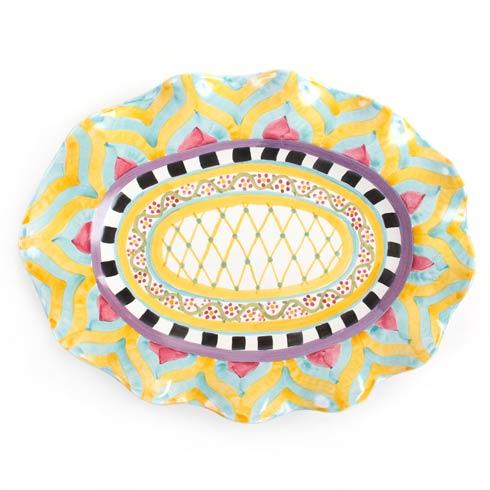 MacKenzie-Childs  Taylor Ceramics Taylor Large Oval Platter - Hitchcock Field $275.00