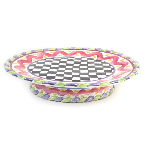 MacKenzie-Childs  Piccadilly Cake Plate $165.00