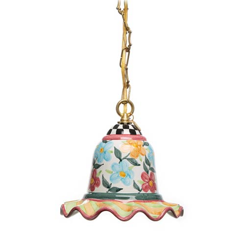 $398.00 Painted Garden Pendant Lamp - Small