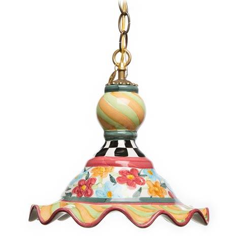 $498.00 Painted Garden Pendant Lamp - Medium