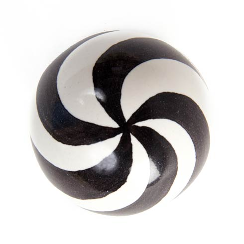 $28.00 Dot Knob - Black & White