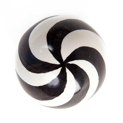 $28.00 Dot Knob - Black & White