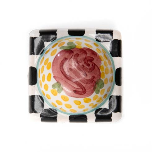 $32.00 Petit Four Square Knob - Rose