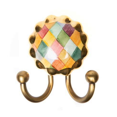 $48.00 Harlequin Ceramic Knob Door Hook