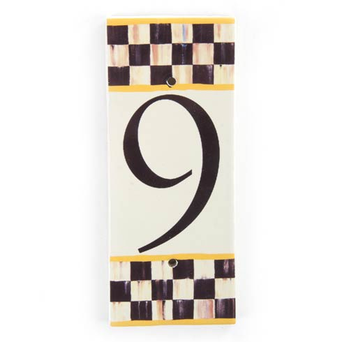 $28.00 Courtly Check House Number - 9