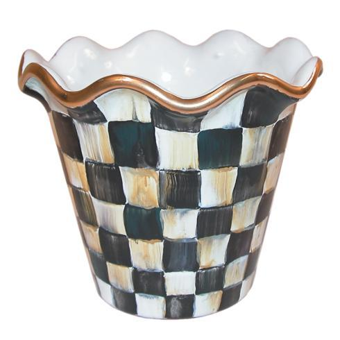 "MacKenzie-Childs  Courtly Check Flower Pot - 4"" $165.00"