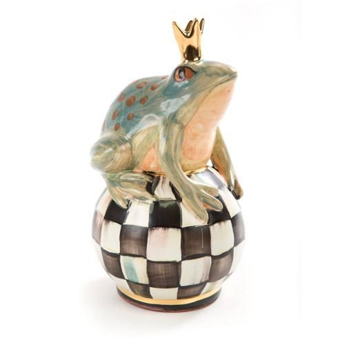 MacKenzie-Childs  Specialty Ceramics Frog On Ball - Courtly Check $225.00
