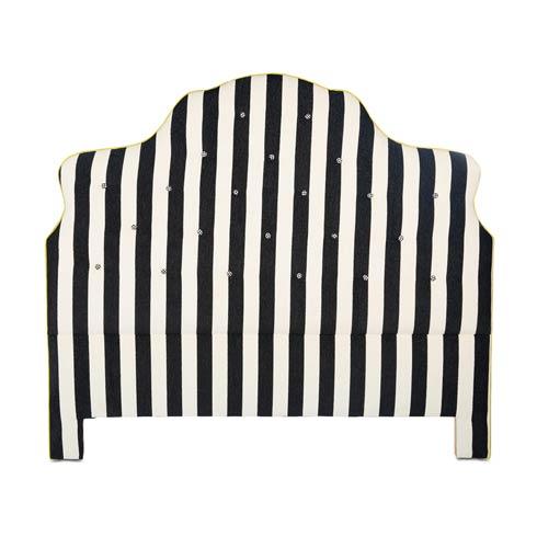 $1,995.00 Marquee Headboard - Chenille Black Stripe - Queen