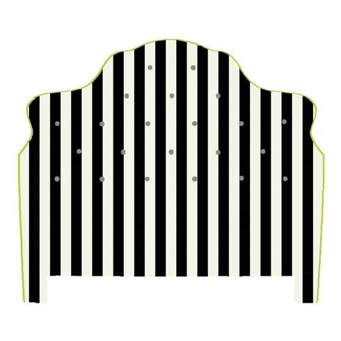 $2,495.00 Marquee Headboard - Chenille Black Stripe - King