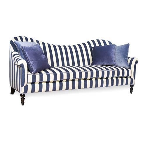 $4,495.00 Marquee Sofa - Chenille Navy Stripe