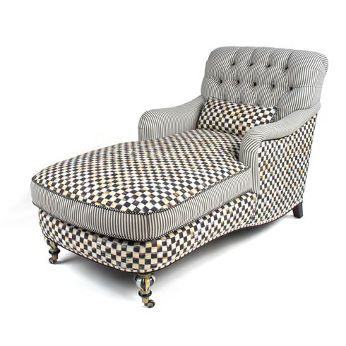 $2,887.50 Courtly Check Underpinnings Chaise