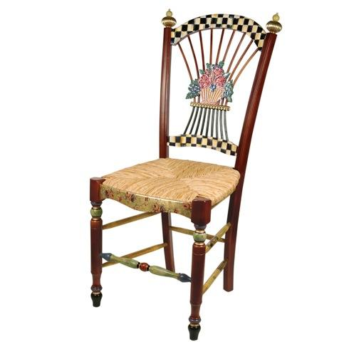 $2,295.00 Dark Flower Basket Side Chair