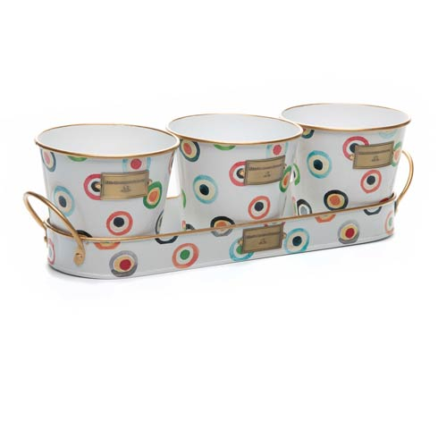 $58.00 Lunares Herb Pots with Tray - Set of 3