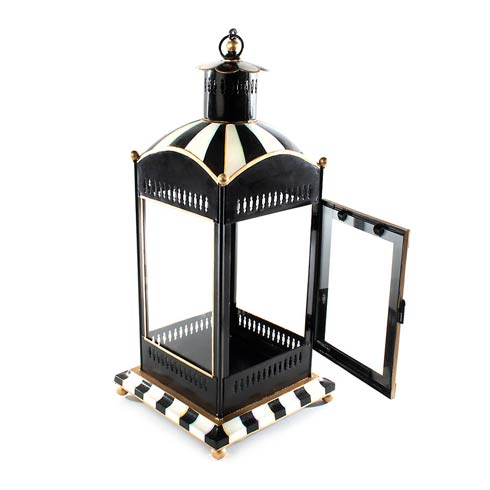 $175.00 Courtly Stripe Candle Lantern - Large
