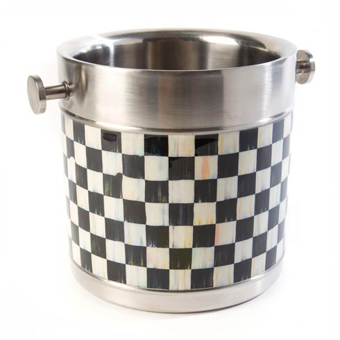 MacKenzie-Childs Courtly Check Tabletop 3260 Ice Bucket $98.00