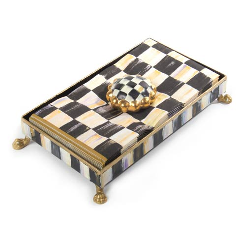 MacKenzie-Childs  Courtly Check Guest Towel Holder Set - Gold $98.00