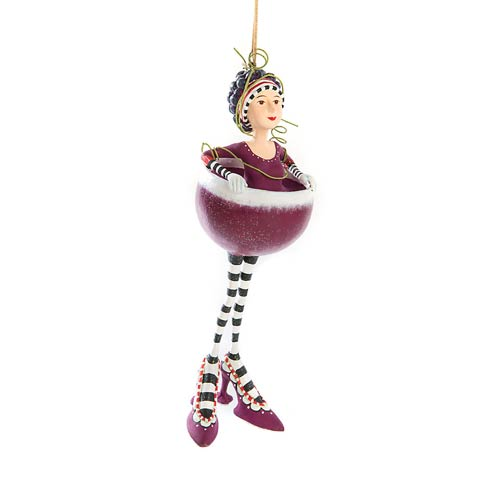 $60.00 Ruby Red Wine Girl Ornament
