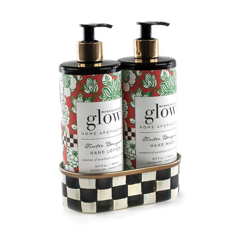 MacKenzie-Childs  Glow Apothecary Winter Bouquet Soap & Lotion Caddy Set