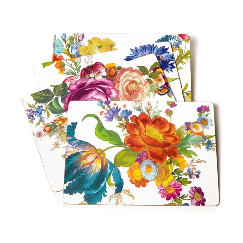 MacKenzie-Childs Flower Market Tabletop Placemats - White - Set of 4 $78.00