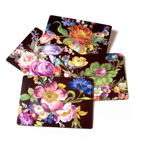 $78.00 Placemats - Black - Set of 4