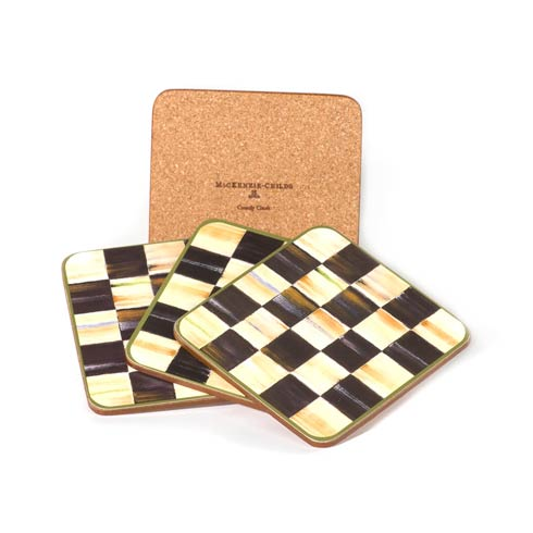 MacKenzie-Childs  Courtly Check Cork Back Coasters - Set of 4 $28.00