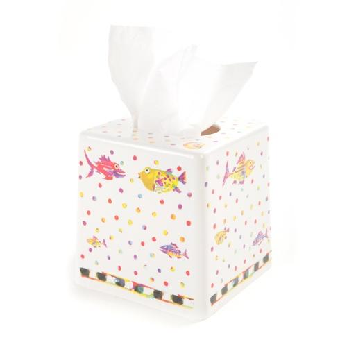 $22.00 Happy Fish Tissue Box Holder