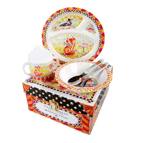$48.00 Toddler\'s Dinnerware Set - Fox