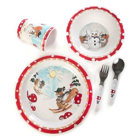 $48.00 Toddler\'s Dinnerware Set - Nutkin Manor